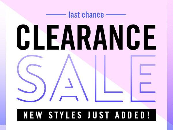Last Chance! Clearance Sale! Shop Now