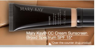 Mary Kay® CC Cream Sunscreen Broad Spectrum SPF 15*. Over-the-counter drug product
