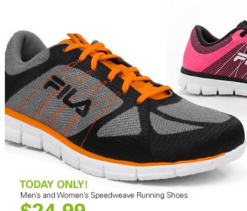 TODAY ONLY! Men's and Women's Speedweave Running Shoes - $24.99
