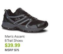 Men's Ascent 8 Trail Shoes $39.99 MSRP $75