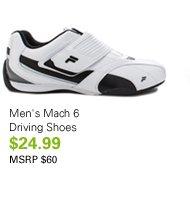 Men's Mach 6 Driving Shoes $24.99 MSRP $60