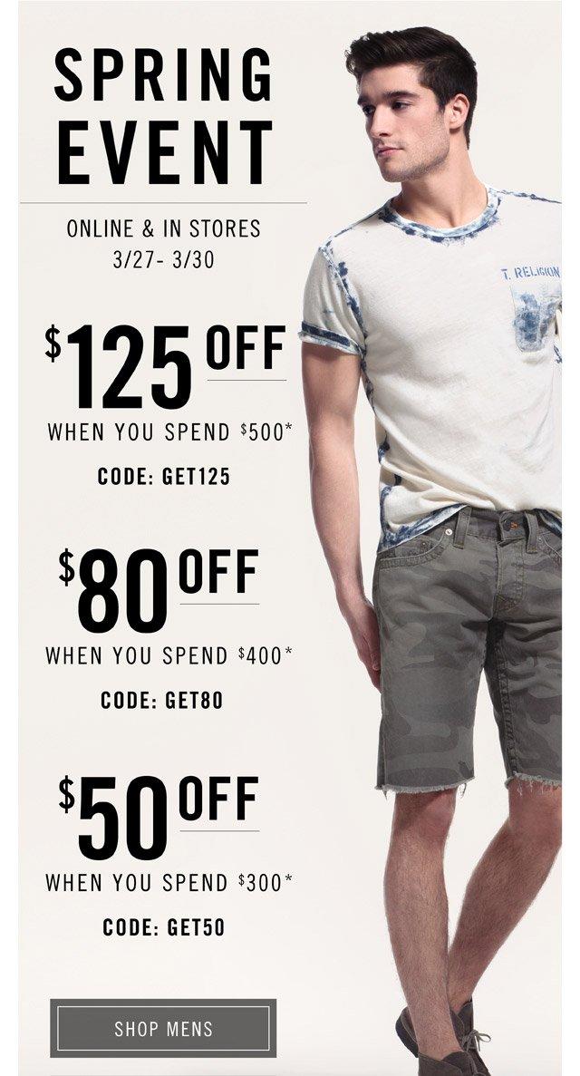 Spring Event - Shop Mens