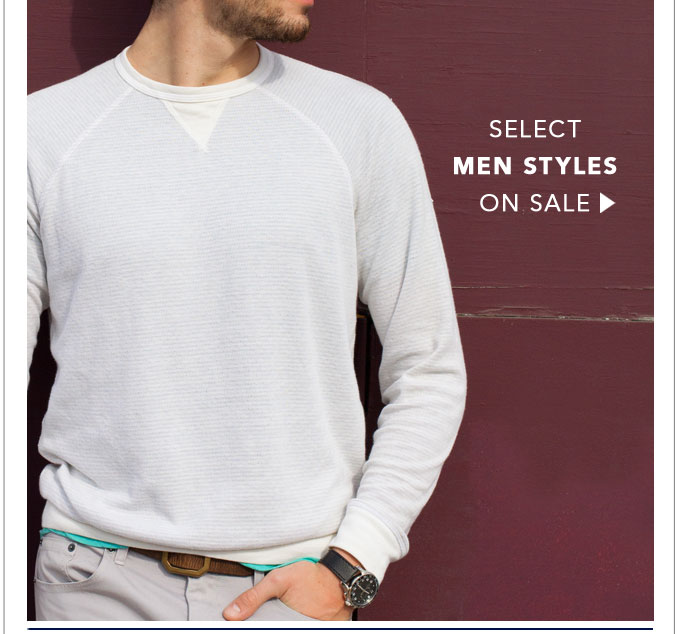Select Men Styles on Sale