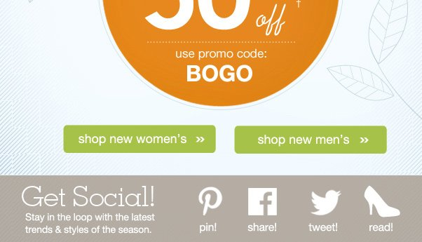 BOGO 50% Off Ends TODAY! Buy 2 Pairs & SAVE!