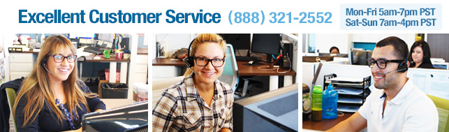 Excellent Customer Service (888) 321-2552.