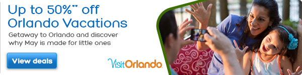 Up to 50%** off Orlando Vacations