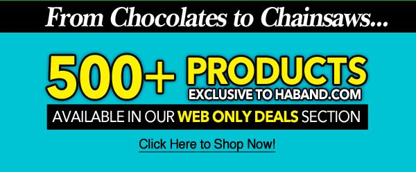 500 Plus New Web Only Deals!