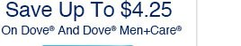Save Up To $4.25 On Dove(R) And Dove(R) Men+Care(R)