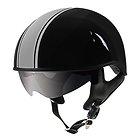 Outlaw V5-38 Grey Strip with Visor Motorcycle Half Helmet