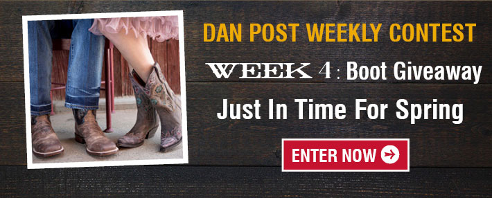 Dan Post Weekly COntest Week 4 - Boot Giveaway