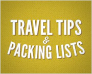 Travel tips & Packing lists