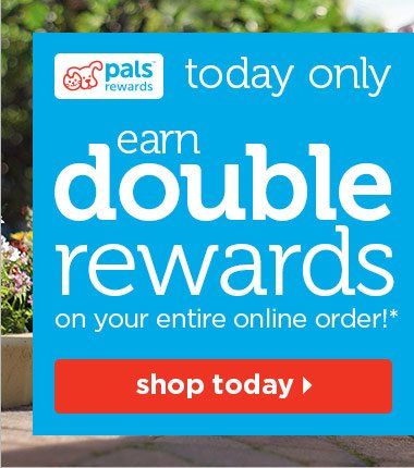 Today only - earn double rewards on your entire online order!