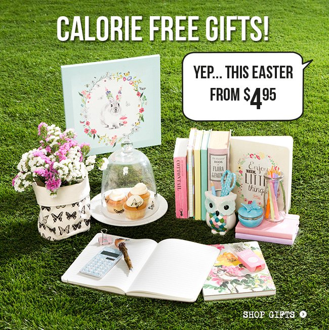 Calorie Free Gifts from $3.95