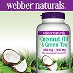 webber naturals Coconut Oil and Green Tea