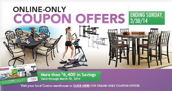 Online-Only Coupon Offers Ending Sunday, 3/30/14. Click Here For All Offers