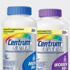 Centrum Silver Women or Men's 50 + Multi-Vitamin, Multi-Mineral Supplement