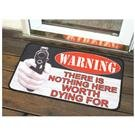 Warning Doormat