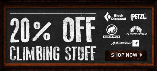 20% off Climbing Sale