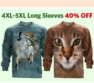4XL-5XL Long Sleeves 40% OFF