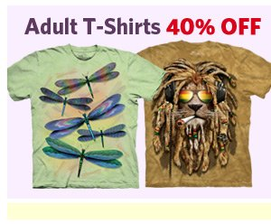 Adult T-Shirts 40% Off.