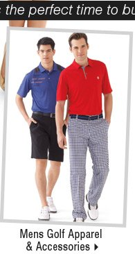 It's the perfect time to buy new spring arrivals-Shop Men's Golf Apparel & Accessories