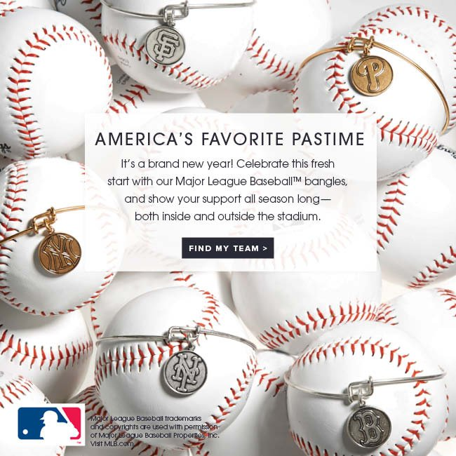 American's favorite pastime. It's a brand new year! Celebrate this fresh start with our Major League Baseball™ bangles, and show your support all season long—both inside and outside the stadium. Shop now.