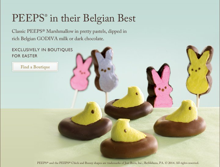 PEEPS(R) in their Belgian Best | Find a Boutique