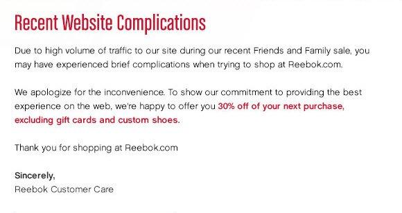 Recent Website Complications