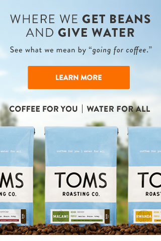 Where we get beans and give water - see what we mean by Going for Coffee