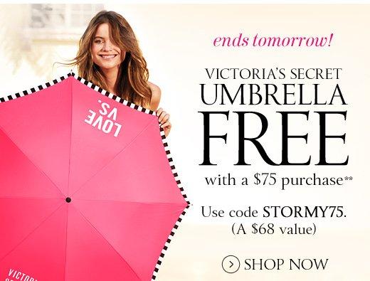 Ends Tomorrow! Victoria's Secret Umbrella Free With A $75 Purchase