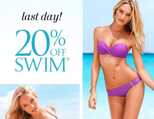 Last Day! 20% Off Swim