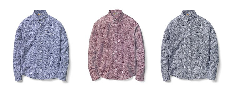 Flora Print Shirts in three colors