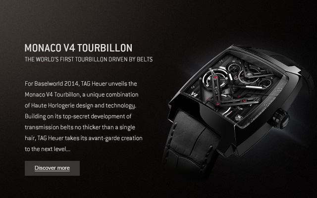 Monaco V4 Tourbillon - The world's first tourbillon driven by belts - Discover more
