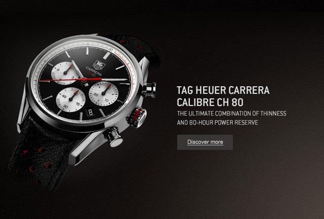 Tag Heuer Carrera Calibre CH 80 - The ultimate combination of thinness and 80-Hour Power Reserve - Discover More