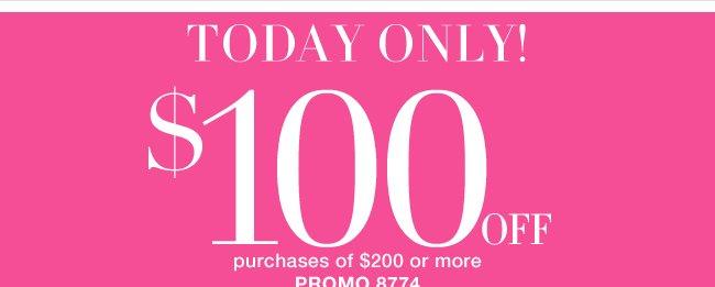 Save $100 Off $200!