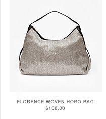 Florence Woven Hobo Bag