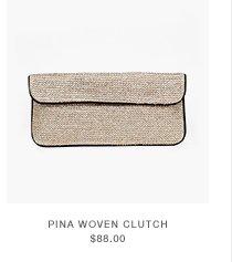 Pina Woven Clutch