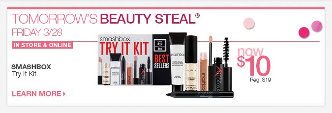 Friday 3-28 Beauty Steal: SMASHBOX Try It Kit - Now $10