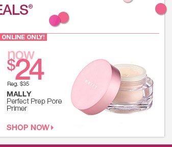Thursday, 3/27 Beauty Steal - ONLINE ONLY - Mally Perfect Prep Pore Primer Now $24
