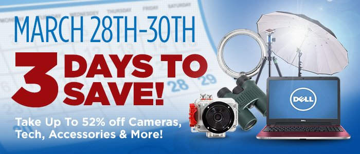 Adorama's 3 Day Sale!