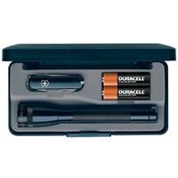 Adorama - Maglite Mini 2-Cell AA Incandescent Flashlight & Classic Swiss Army Knife Combo, Black