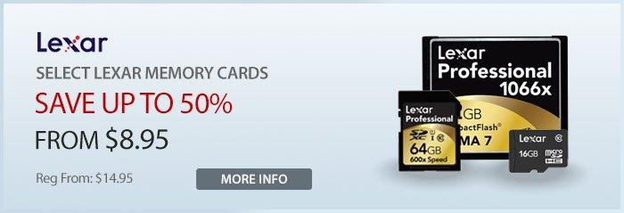 Adorama - Lexar Memory Cards