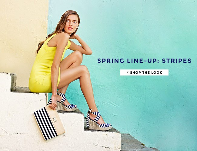 SPRING LINE-UP: STRIPES. SHOP THE LOOK.