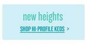 new heights | SHOP HI-PROFILE KEDS >