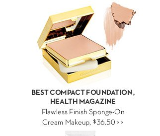 BEST COMPACT FOUNDATION, HEALTH MAGAZINE. Flawless Finish Sponge-On Cream Makeup, $36.50.