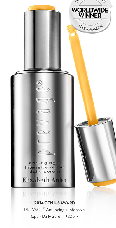 2014 GENIUS AWARD. PREVAGE® Anti-aging + Intensive Repair Daily Serum, $225.