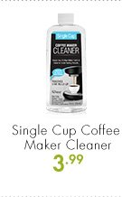 Single Cup Coffee Maker Cleaner 3.99