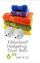 Kikkerland® Hedgehog Dryer Balls 6.99 (set of 2)