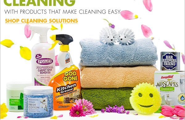 GET A HEAD START ON SPRING CLEANING WITH PRODUCTS THAT MAKE CLEANING EASY SHOP CLEANING SOLUTIONS