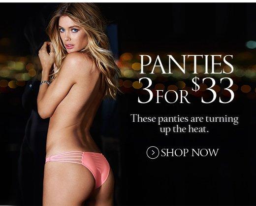 Panties 3 For $33